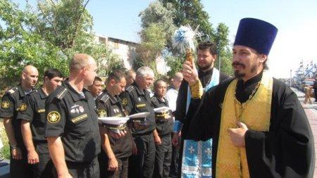 Астраханский священник принял участие в походе Каспийской флотилии