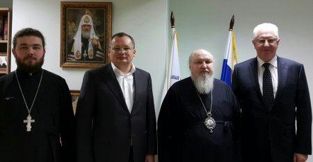 Вице-губернатор Астраханской  области посетил Синодальный комитет по взаимодействию с казачеством