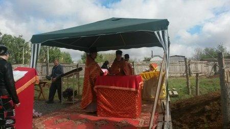 Первая Божественная литургия совершена во временном храме великомученика Георгия Победоносца