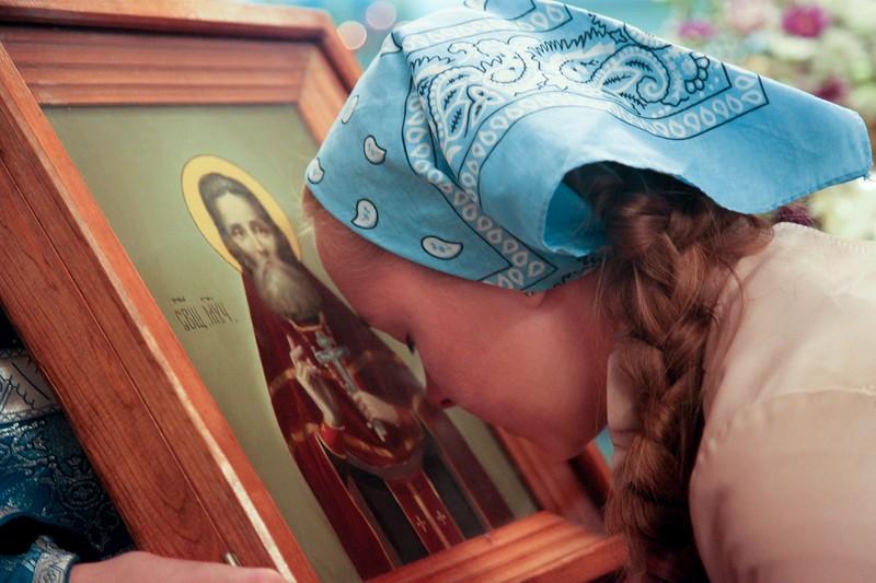 Икона сщмч. Григория Хлебунова в астраханском храме