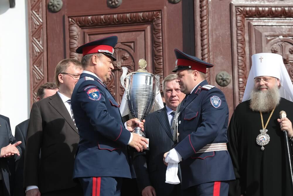 Губернаторский смотр казачьих кадетских корпусов в Новочеркасске