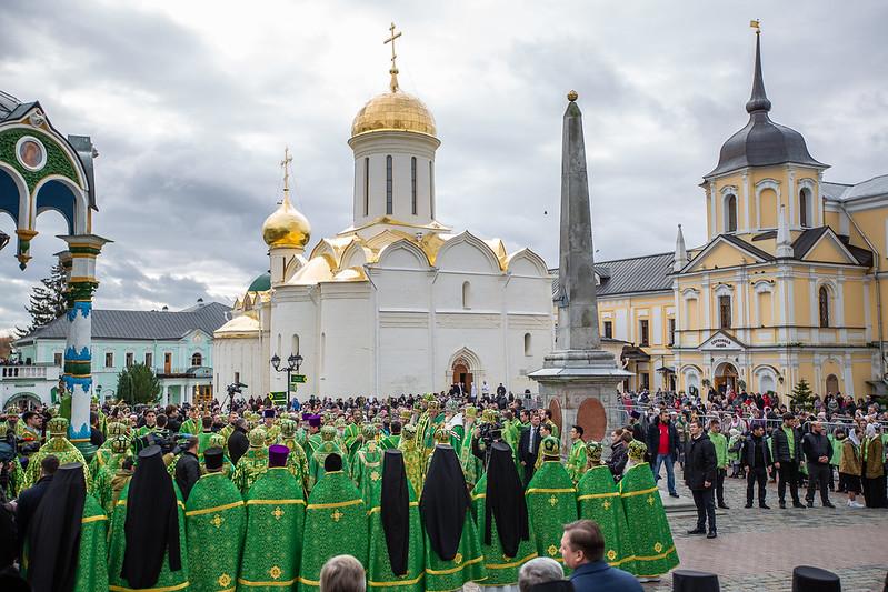 День преставления преподобного Сергия Радонежского в Троице-Сергиевой Лавре