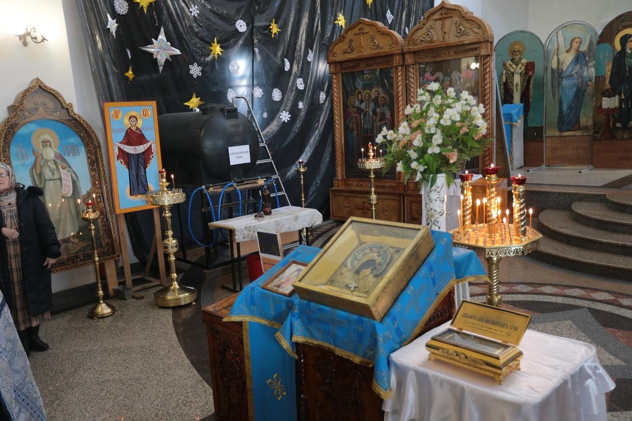 Святыни из Вышенского монастыря в Астрахани