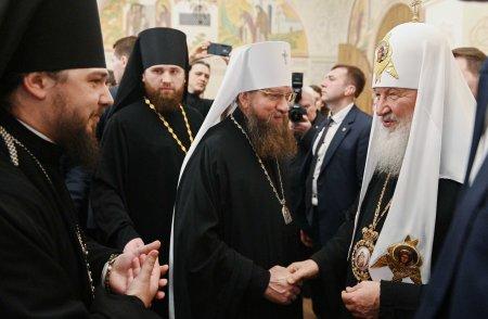 Митрополит Никон и епископ Антоний приняли участие в торжественном приеме по случаю 11-й годовщины интронизации Святейшего патриарха Кирилла