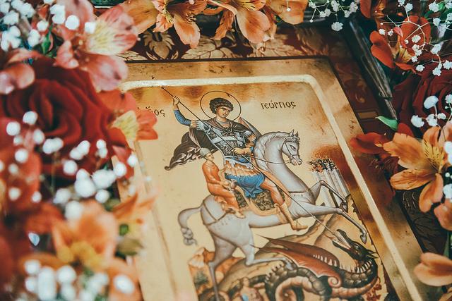 Престольный праздник в строящемся храме св. великомученика Георгия Победоносца в Военном городке