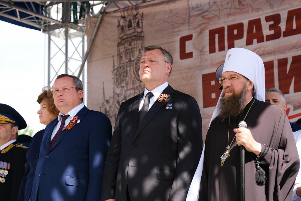 Митрополит Никон принял участие в торжествах, посвященных 76-й годовщине победы в Великой Отечественной войне